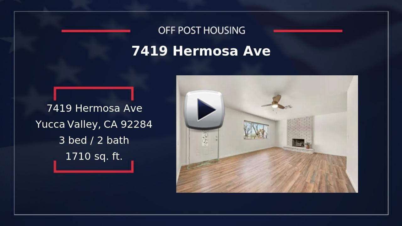 MCAGCC Twentynine Palms, CA Housing and Relocation Information