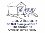 GP Self Storage at Exit 1